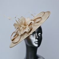 Beige Mother of the Bride hatinator 13013